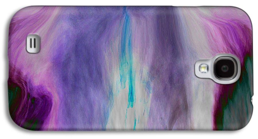 Abstract Art Galaxy S4 Case featuring the digital art Waterfall by Linda Sannuti