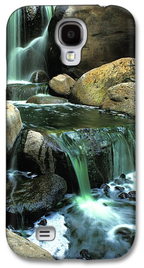 Water Galaxy S4 Case featuring the photograph Waterfall On Maui by Carl Purcell