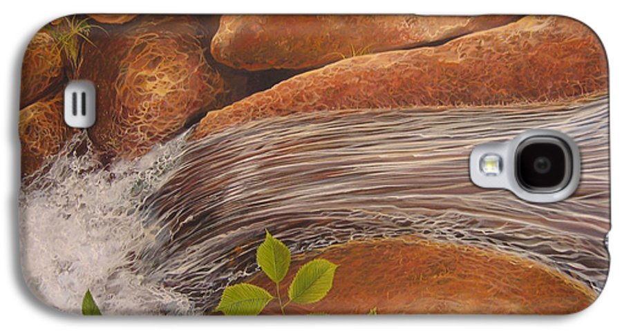 Water Galaxy S4 Case featuring the painting Water's Edge by Hunter Jay