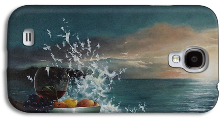 Seascape Galaxy S4 Case featuring the painting Wave by Tjerk Reijinga