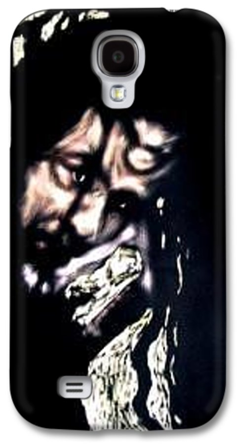 Portrait Galaxy S4 Case featuring the mixed media Wear My Crown Down by Chester Elmore