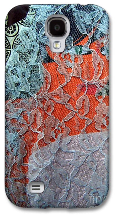 Portrait Galaxy S4 Case featuring the mixed media Wedding Mask by Debra Bretton Robinson