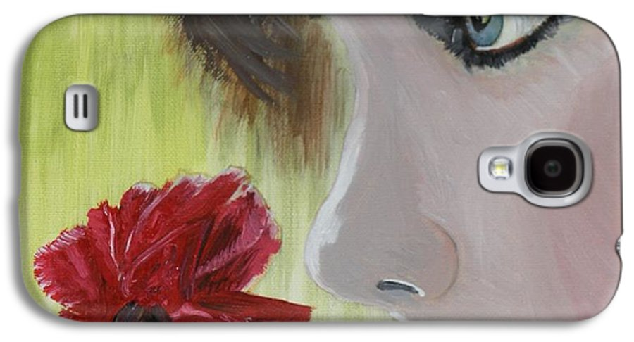 Romance Galaxy S4 Case featuring the painting Wedding Rose by J Bauer