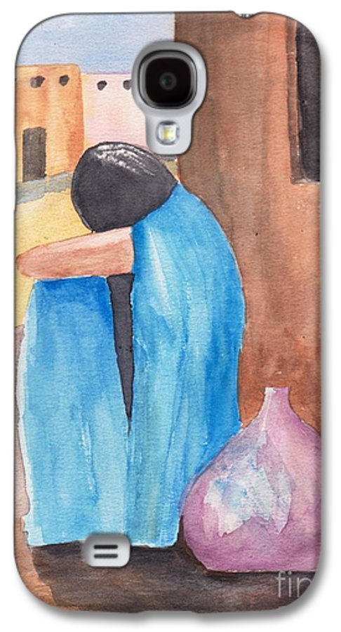 Southwest Galaxy S4 Case featuring the painting Weeping Woman by Susan Kubes