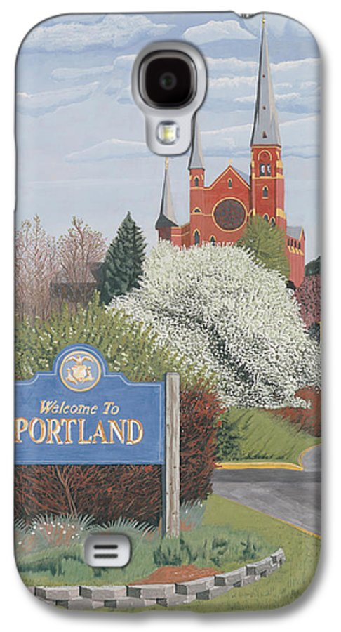 Church Galaxy S4 Case featuring the painting Welcome To Portland by Dominic White
