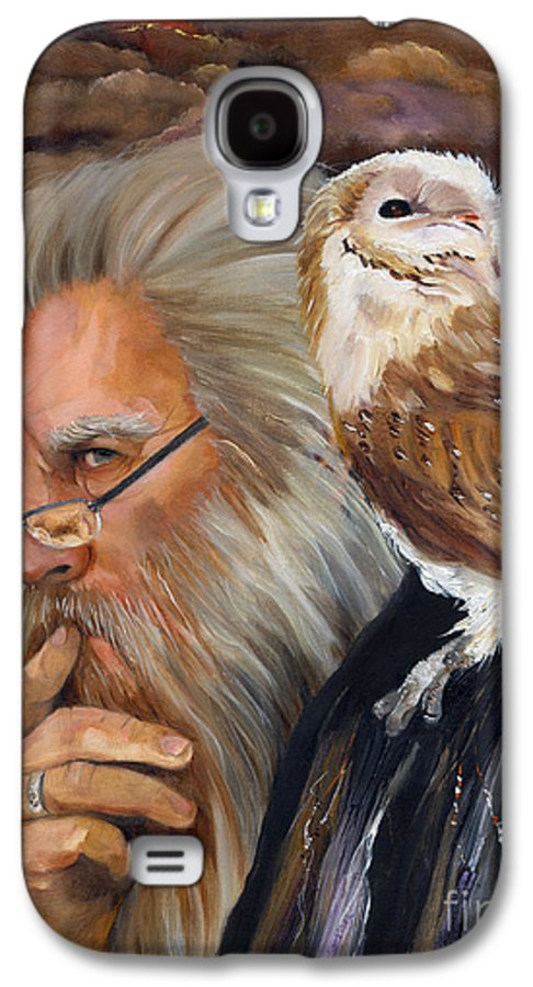 Wizard Galaxy S4 Case featuring the painting What If... by J W Baker