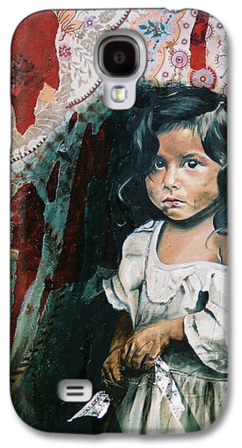 Asian Girl Galaxy S4 Case featuring the painting What Is My Worth by Teresa Carter