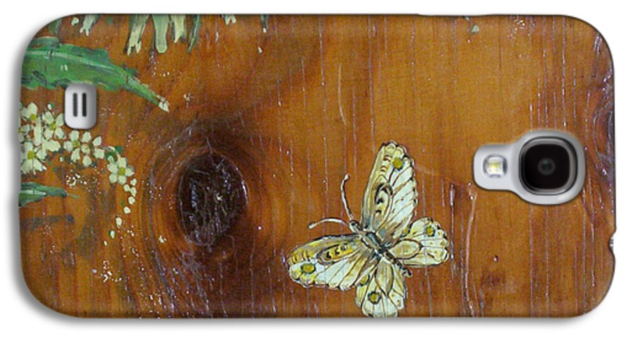 Wildflowers Galaxy S4 Case featuring the painting Wheat 'n' Wildflowers II by Phyllis Mae Richardson Fisher