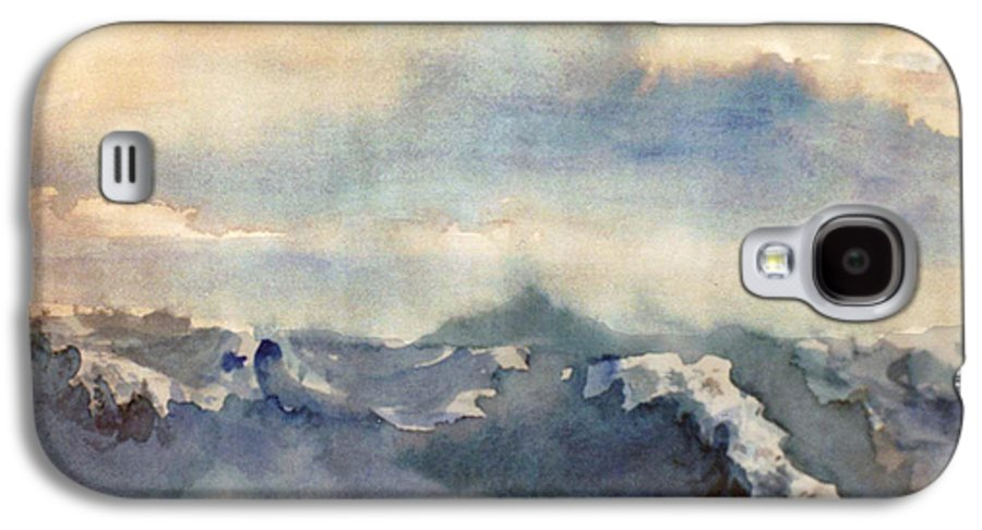 Seascape Galaxy S4 Case featuring the painting Where Sky Meets Ocean by Steve Karol