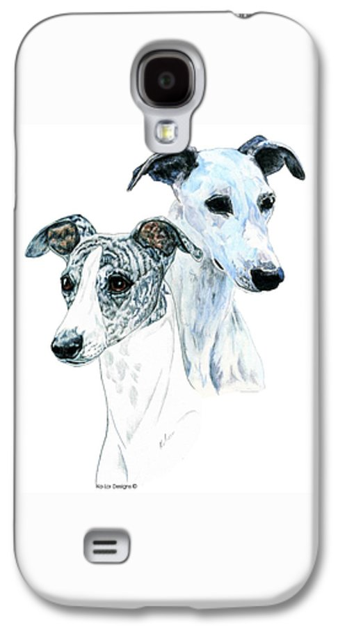 Whippet Galaxy S4 Case featuring the painting Whippet Pair by Kathleen Sepulveda