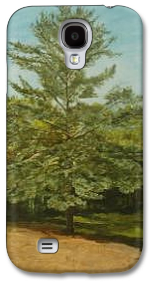 Pine Tree Galaxy S4 Case featuring the painting White Lake by Leah Tomaino