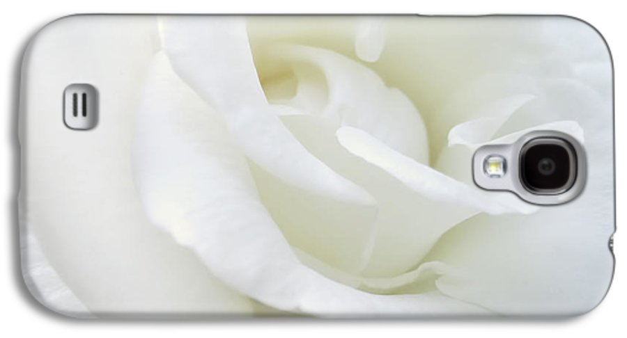 Rose Galaxy S4 Case featuring the photograph White Rose Angel Wings by Jennie Marie Schell