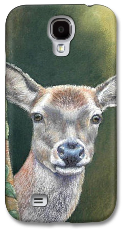 Rainforest Galaxy S4 Case featuring the painting White Tail Doe At Ancon Hill by Ceci Watson