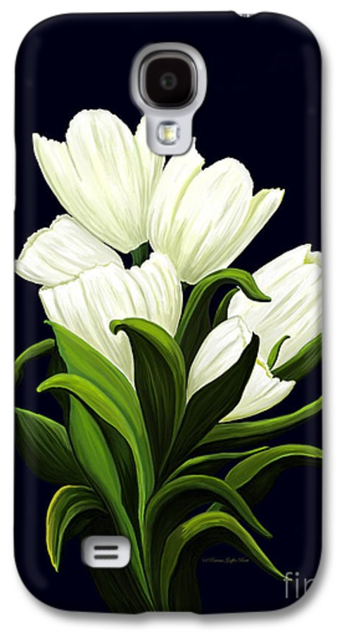 Mixed Media Galaxy S4 Case featuring the painting White Tulips by Patricia Griffin Brett