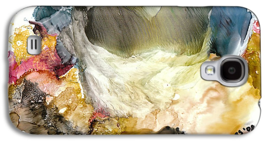 Whitewater Galaxy S4 Case featuring the painting Whitewater Rapids by Susan Kubes