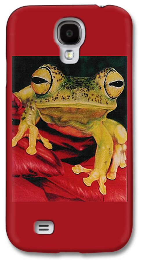 Art Galaxy S4 Case featuring the drawing Who Loves Ya by Barbara Keith