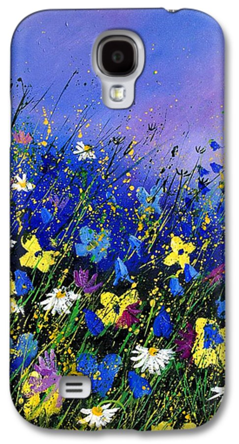 Flowers Galaxy S4 Case featuring the painting Wild Flowers 560908 by Pol Ledent