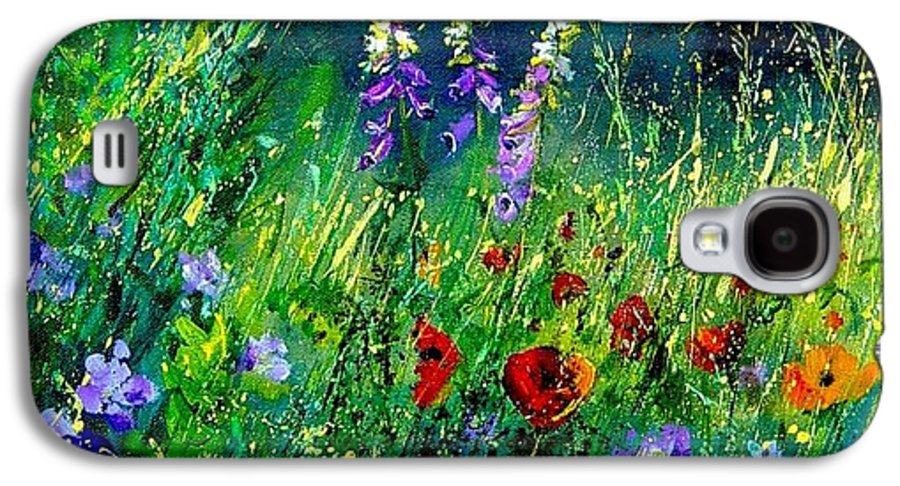 Poppies Galaxy S4 Case featuring the painting Wild Flowers by Pol Ledent