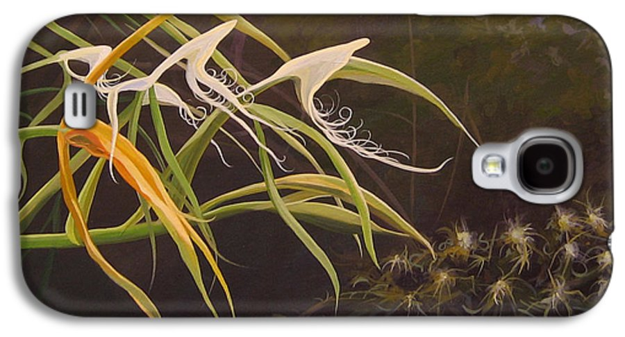 Caribbean Galaxy S4 Case featuring the painting Wild Orchids by Hunter Jay