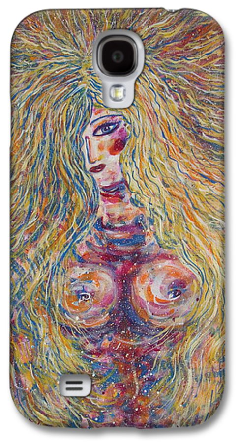 Nude Galaxy S4 Case featuring the painting Wild Passion by Natalie Holland