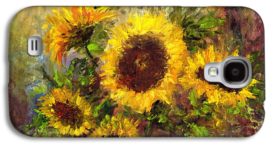 Vincent Van Gogh Galaxy S4 Case featuring the painting Wild Sun by Laura Swink