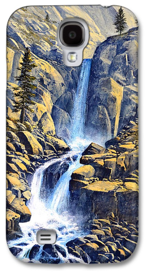 Wilderness Waterfall Galaxy S4 Case featuring the painting Wilderness Waterfall by Frank Wilson