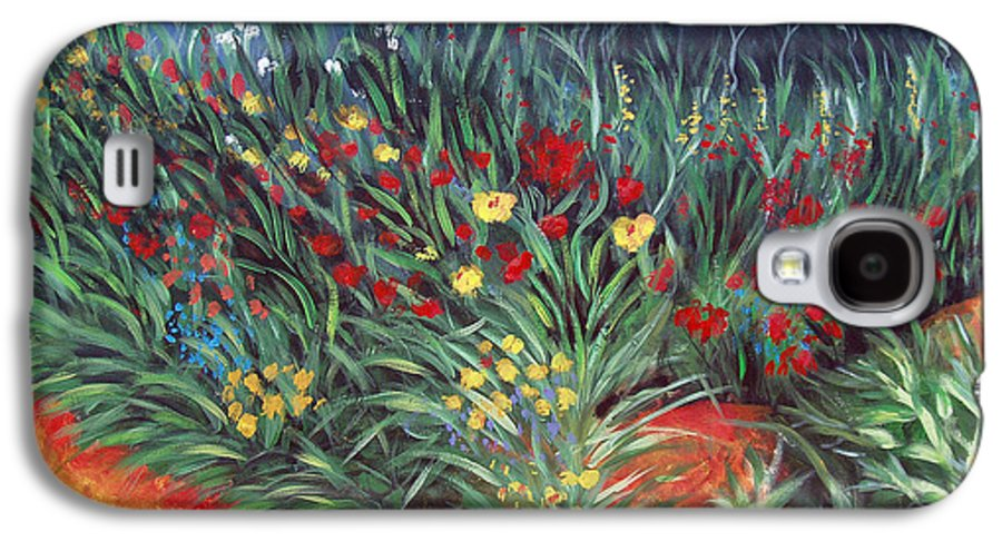 Landscape Galaxy S4 Case featuring the painting Wildflower Garden 2 by Nancy Mueller