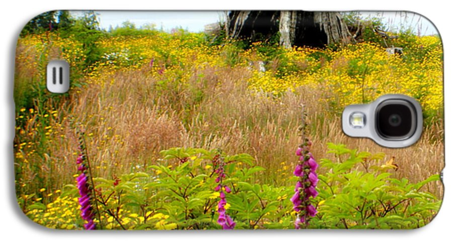 Stump Galaxy S4 Case featuring the photograph Wildflowers by Idaho Scenic Images Linda Lantzy