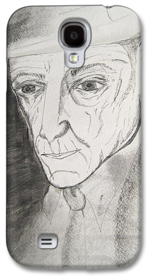 23 Author Black Burroughs Enigma Ink Man Music Painting Portrait Revolutionary Watercolor William Galaxy S4 Case featuring the painting William S. Burroughs by Darkest Artist