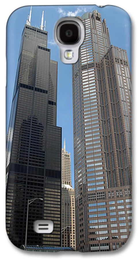 3scape Galaxy S4 Case featuring the photograph Willis Tower Aka Sears Tower And 311 South Wacker Drive by Adam Romanowicz