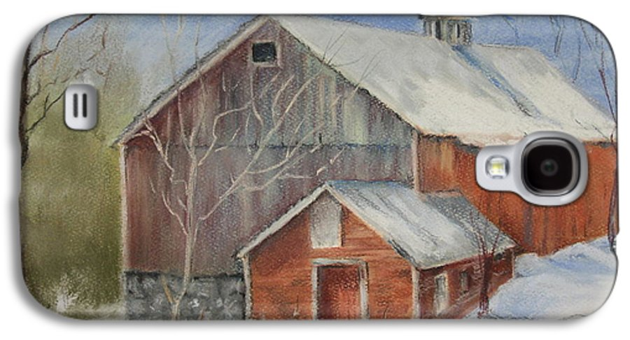 Barn Galaxy S4 Case featuring the painting Williston Barn by Carol Mueller