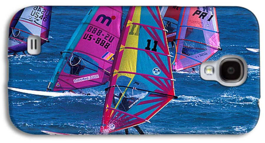 Wind Galaxy S4 Case featuring the photograph Wind Surfers In Nassau by Carl Purcell