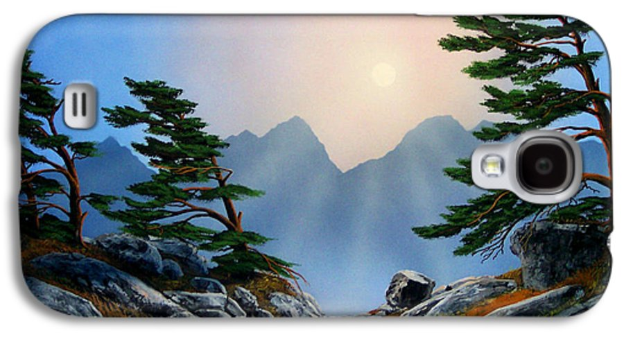 Windblown Pines Galaxy S4 Case featuring the painting Windblown Pines by Frank Wilson