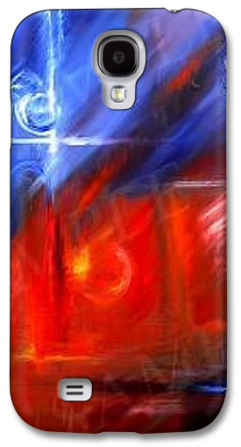 Abstracts Galaxy S4 Case featuring the painting Windows by James Christopher Hill