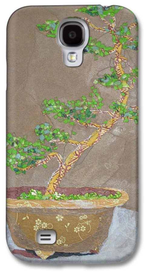 Banzai Tree Galaxy S4 Case featuring the painting Windswept Juniper by Leah Tomaino