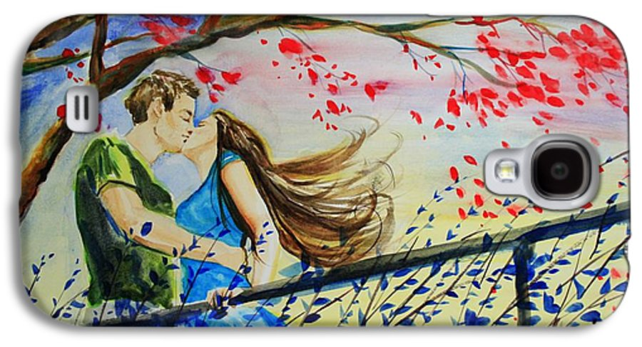 Wind Galaxy S4 Case featuring the painting Windy Kiss by Laura Rispoli