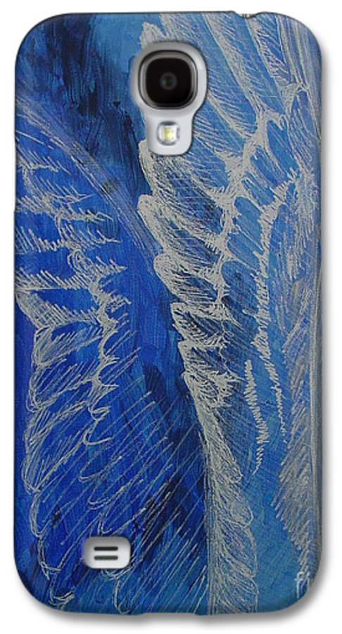 Acrylic Galaxy S4 Case featuring the painting Wings Of Angel by Jindra Noewi
