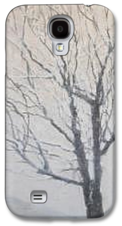 Tree Galaxy S4 Case featuring the painting Winter by Leah Tomaino