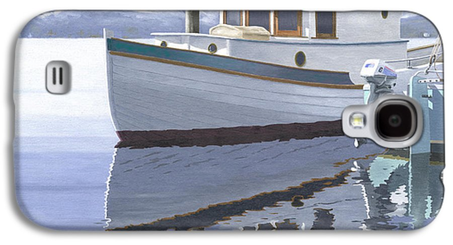 Marine Galaxy S4 Case featuring the painting Winter Moorage by Gary Giacomelli