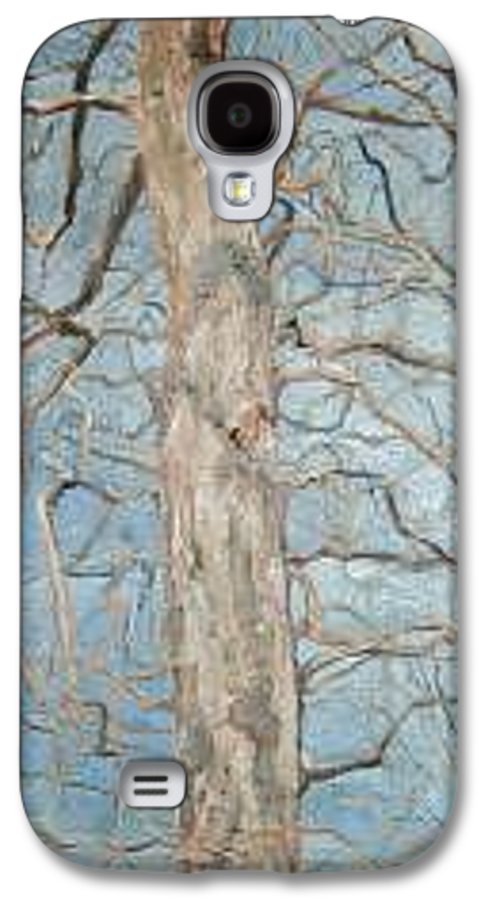 Tree Galaxy S4 Case featuring the painting Winter Morning by Leah Tomaino