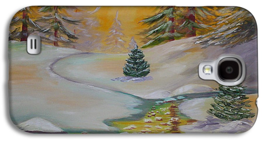 Winter Galaxy S4 Case featuring the painting Winter by Quwatha Valentine