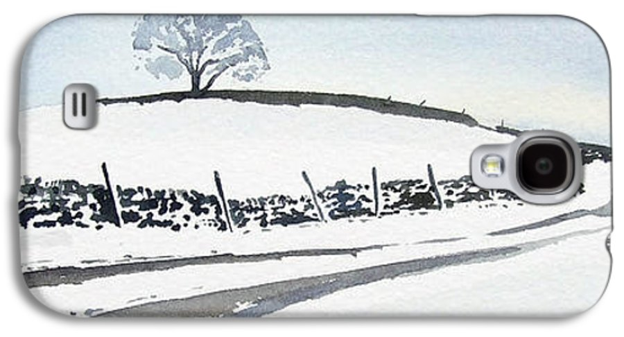 Snowscene In The Yorkshire Dales Galaxy S4 Case featuring the painting Winter Snow In The Dales by Paul Dene Marlor