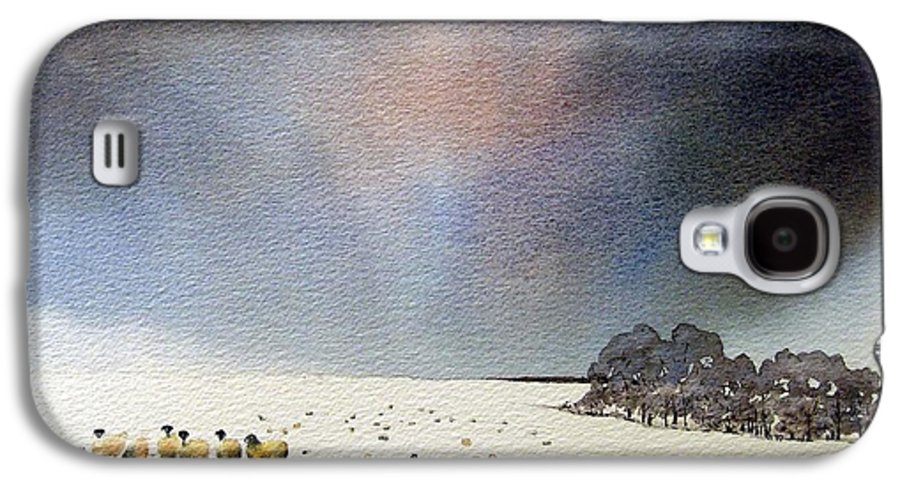 Landscape Galaxy S4 Case featuring the painting Winter Snow Swaledale by Paul Dene Marlor
