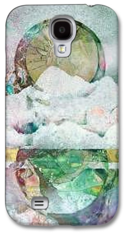 Abstract Galaxy S4 Case featuring the painting Winter Solstice by Marlene Gremillion