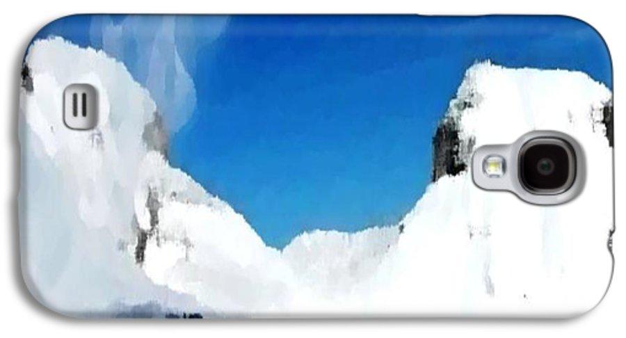 Landacape Galaxy S4 Case featuring the digital art Winter Wind by Dr Loifer Vladimir