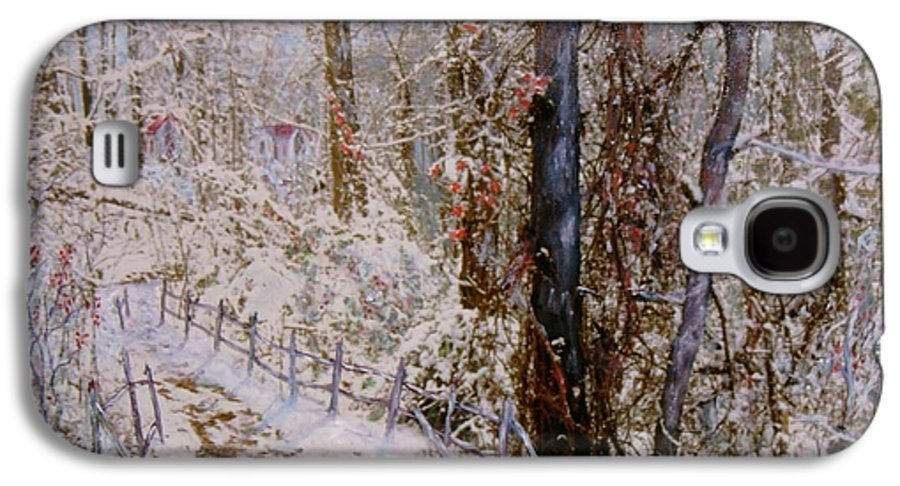 Snow; Trees Galaxy S4 Case featuring the painting Winter Wonderland by Ben Kiger