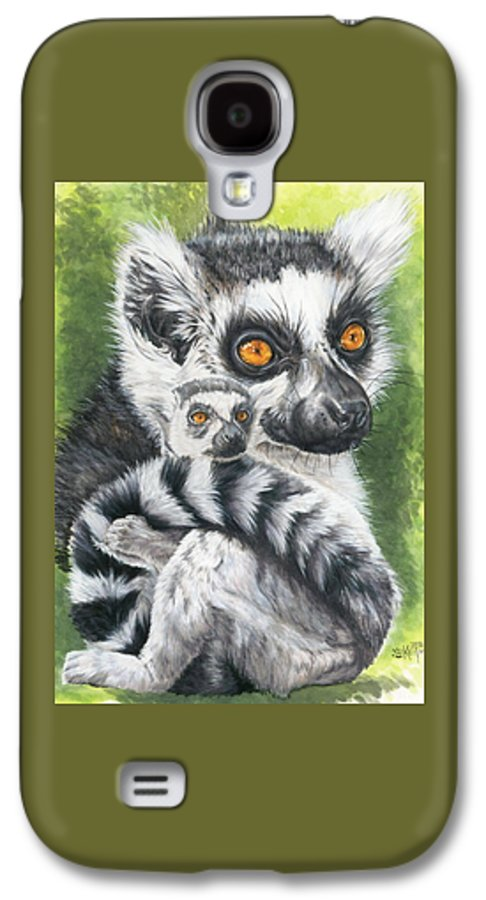 Art Galaxy S4 Case featuring the mixed media Wistful by Barbara Keith