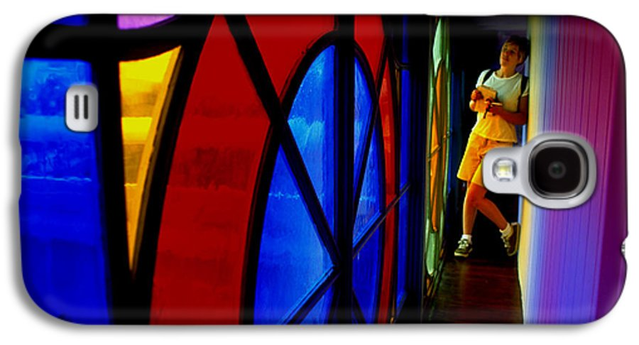 Colorful Galaxy S4 Case featuring the photograph Woman And Stained Glass by Carl Purcell