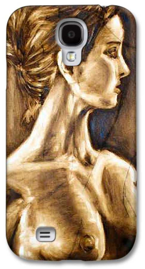 Galaxy S4 Case featuring the painting Woman by Thomas Valentine