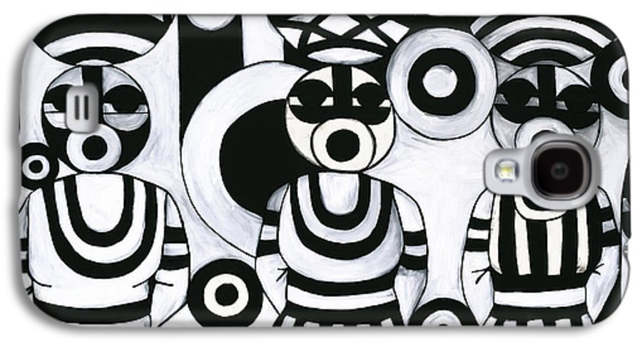 Cubism Galaxy S4 Case featuring the painting Women With Calabashes IIi by Emeka Okoro